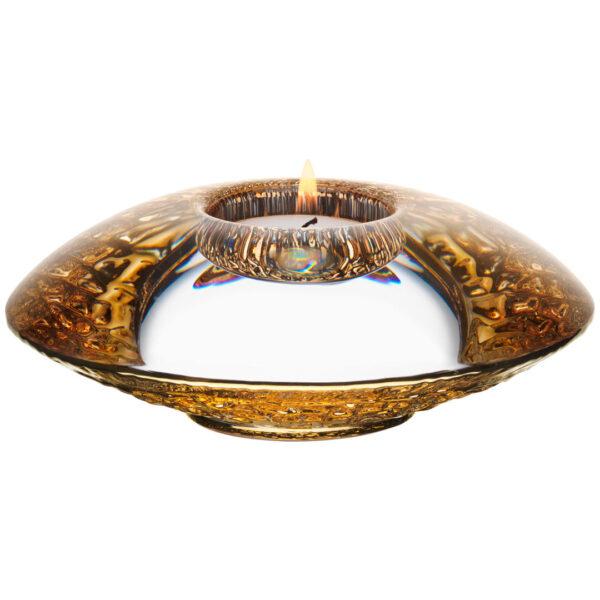 discus tea light gold